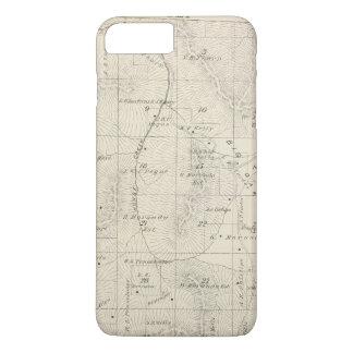 Coque iPhone 8 Plus/7 Plus Carte de section de T18S R28E Tulare County