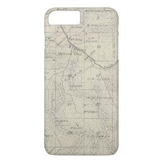 Coque iPhone 8 Plus/7 Plus Carte de section de T22S R29E Tulare County