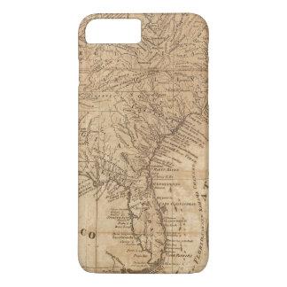 Coque iPhone 8 Plus/7 Plus Carte des états de Virginie et de la Caroline du