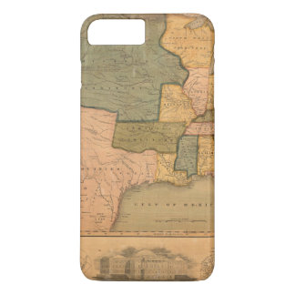 Coque iPhone 8 Plus/7 Plus Carte des Etats-Unis avec George Washington