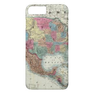Coque iPhone 8 Plus/7 Plus Carte des Etats-Unis, Canada, Mexique