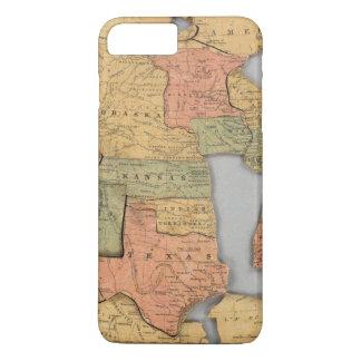 Coque iPhone 8 Plus/7 Plus Carte des Etats-Unis et du Canada