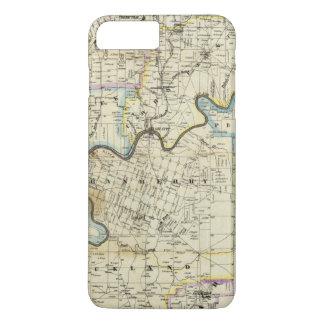 Coque iPhone 8 Plus/7 Plus Carte des régions de pétrole du comté de Venango