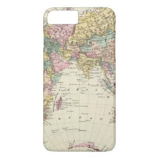 Coque iPhone 8 Plus/7 Plus Carte d'hémisphère oriental