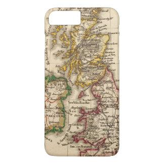 Coque iPhone 8 Plus/7 Plus Carte d'îles britanniques