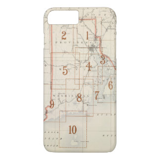 Coque iPhone 8 Plus/7 Plus Carte d'index d'Île de Rhode