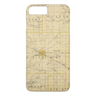 Coque iPhone 8 Plus/7 Plus Carte du comté de Boone