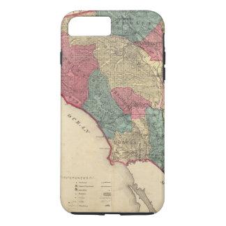 Coque iPhone 8 Plus/7 Plus Carte du comté de Sonoma la Californie