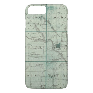 Coque iPhone 8 Plus/7 Plus Carte du comté de Union, état de l'Iowa