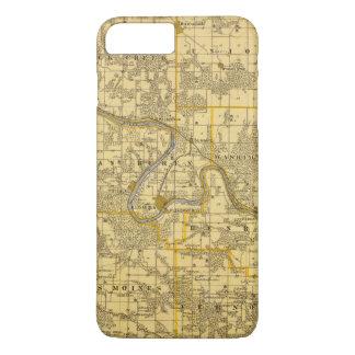 Coque iPhone 8 Plus/7 Plus Carte du comté de Van Buren, état de l'Iowa