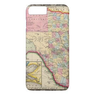 Coque iPhone 8 Plus/7 Plus Carte du comté du Texas