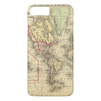 Coque iPhone 8 Plus/7 Plus Carte du monde avec les routes maritimes des