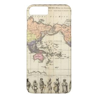 Coque iPhone 8 Plus/7 Plus Carte du monde des styles d'habillement