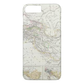 Coque iPhone 8 Plus/7 Plus Carte du monde d'hémisphère oriental