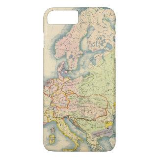 Coque iPhone 8 Plus/7 Plus Carte ethnographique de l'Europe