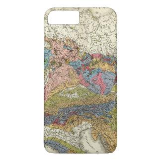 Coque iPhone 8 Plus/7 Plus Carte géologique de l'Allemagne