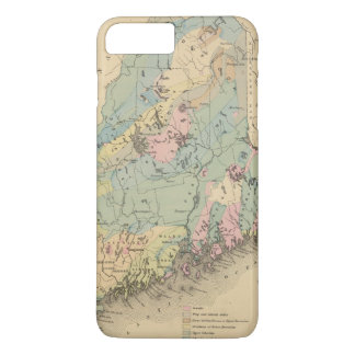 Coque iPhone 8 Plus/7 Plus Carte géologique du Maine
