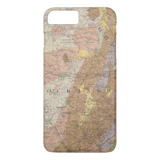 Coque iPhone 8 Plus/7 Plus Carte géologique du New Hampshire 4