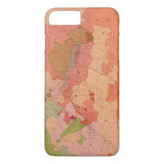 Coque iPhone 8 Plus/7 Plus Carte géologique du secteur de Washoe