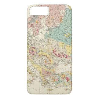 Coque iPhone 8 Plus/7 Plus Carte géologique l'Europe