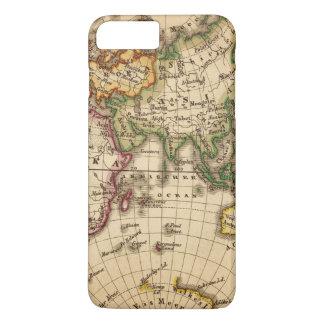 Coque iPhone 8 Plus/7 Plus Carte gravée d'hémisphère oriental