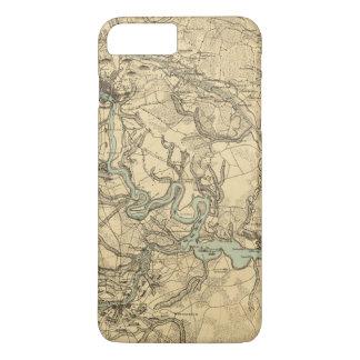 Coque iPhone 8 Plus/7 Plus Carte militaire de Hughes de Richmond et de