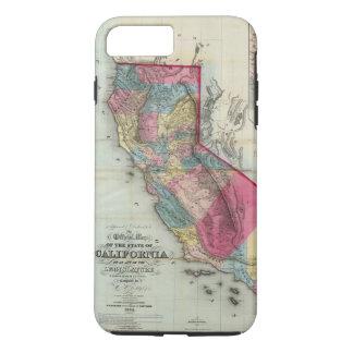 Coque iPhone 8 Plus/7 Plus Carte officielle de l'état de la Californie