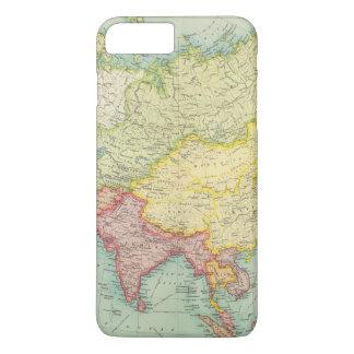 Coque iPhone 8 Plus/7 Plus Carte politique d'atlas de l'Asie