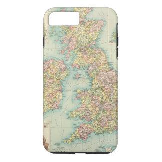 Coque iPhone 8 Plus/7 Plus Carte politique d'îles britanniques