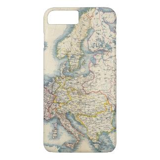 Coque iPhone 8 Plus/7 Plus Carte politique militaire de l'Europe