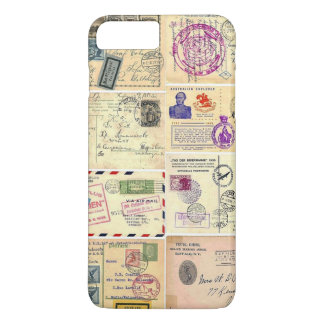 Coque iPhone 8 Plus/7 Plus Cartes postales vintages de voyage