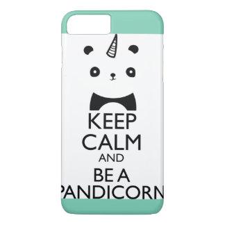 Coque iPhone 8 Plus/7 Plus Cas de licorne de panda d'iPhone d'Aqua