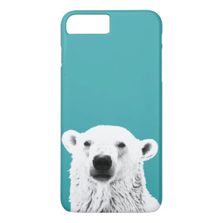 Coque iPhone 8 Plus/7 Plus Cas de l'iPhone 7 d'ours blanc