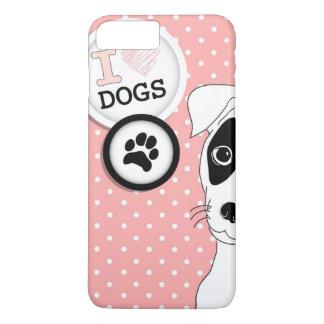 Coque iPhone 8 Plus/7 Plus Cas de téléphone d'amoureux de les chiens