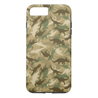 Coque iPhone 8 Plus/7 Plus Cas de téléphone de dinosaure de Camo