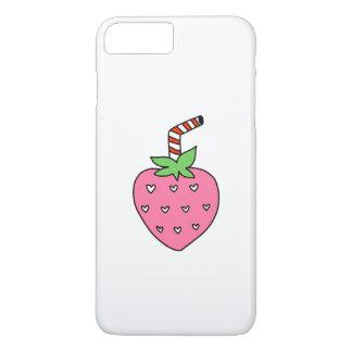 Coque iPhone 8 Plus/7 Plus CAS de TÉLÉPHONE de lait de fraise, CAS de