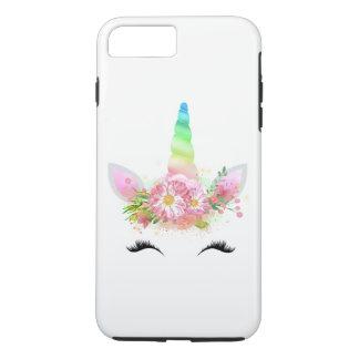 Coque iPhone 8 Plus/7 Plus Cas de téléphone de licorne d'arc-en-ciel