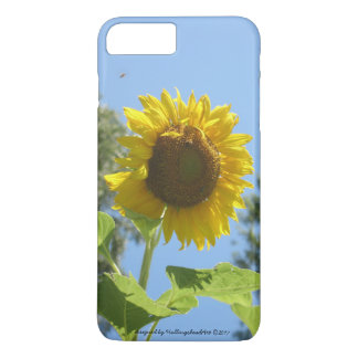 Coque iPhone 8 Plus/7 Plus cas d'iPhone/iPad, tournesol lumineux