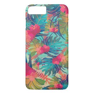 Coque iPhone 8 Plus/7 Plus Cas floral tropical de téléphone de l'aquarelle |
