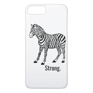 Coque iPhone 8 Plus/7 Plus Cas fort de téléphone de zèbre