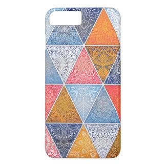 Coque iPhone 8 Plus/7 Plus Cas géométrique abstrait élégant de téléphone des