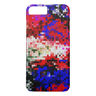 Coque iPhone 8 Plus/7 Plus cas multicolore de bloc pour l'iPhone 7 plus