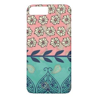 Coque iPhone 8 Plus/7 Plus Cas plus de l'iPhone 6 Girly de Boho Paisley de