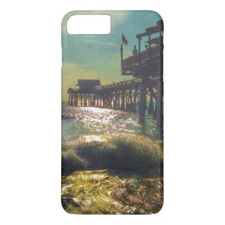 Coque iPhone 8 Plus/7 Plus Cas plus de l'iPhone 7 de pilier de plage de cacao