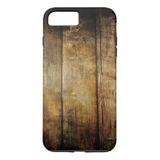 Coque iPhone 8 Plus/7 Plus Cas plus de l'iPhone 7 durs en bois foncés