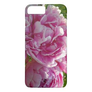 Coque iPhone 8 Plus/7 Plus Cas plus de l'iPhone 7 roses de pivoine