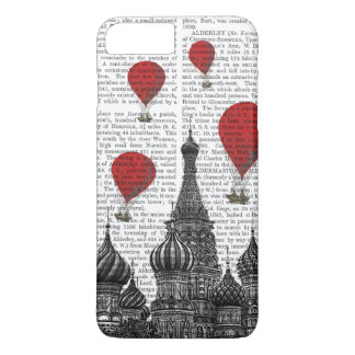 Coque iPhone 8 Plus/7 Plus Cathédrale de St Basil et ballons à air d'un rouge