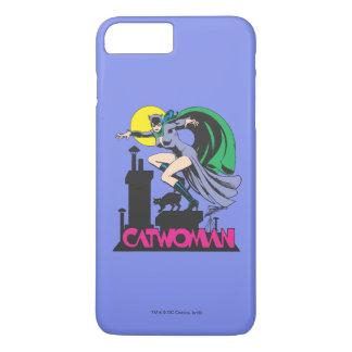 Coque iPhone 8 Plus/7 Plus Catwoman et rose de logo