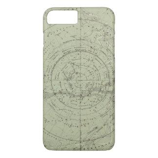Coque iPhone 8 Plus/7 Plus Centre de la carte de ciel du sud
