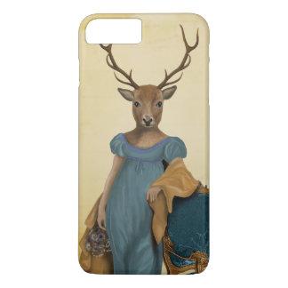 Coque iPhone 8 Plus/7 Plus Cerfs communs dans la robe bleue 2